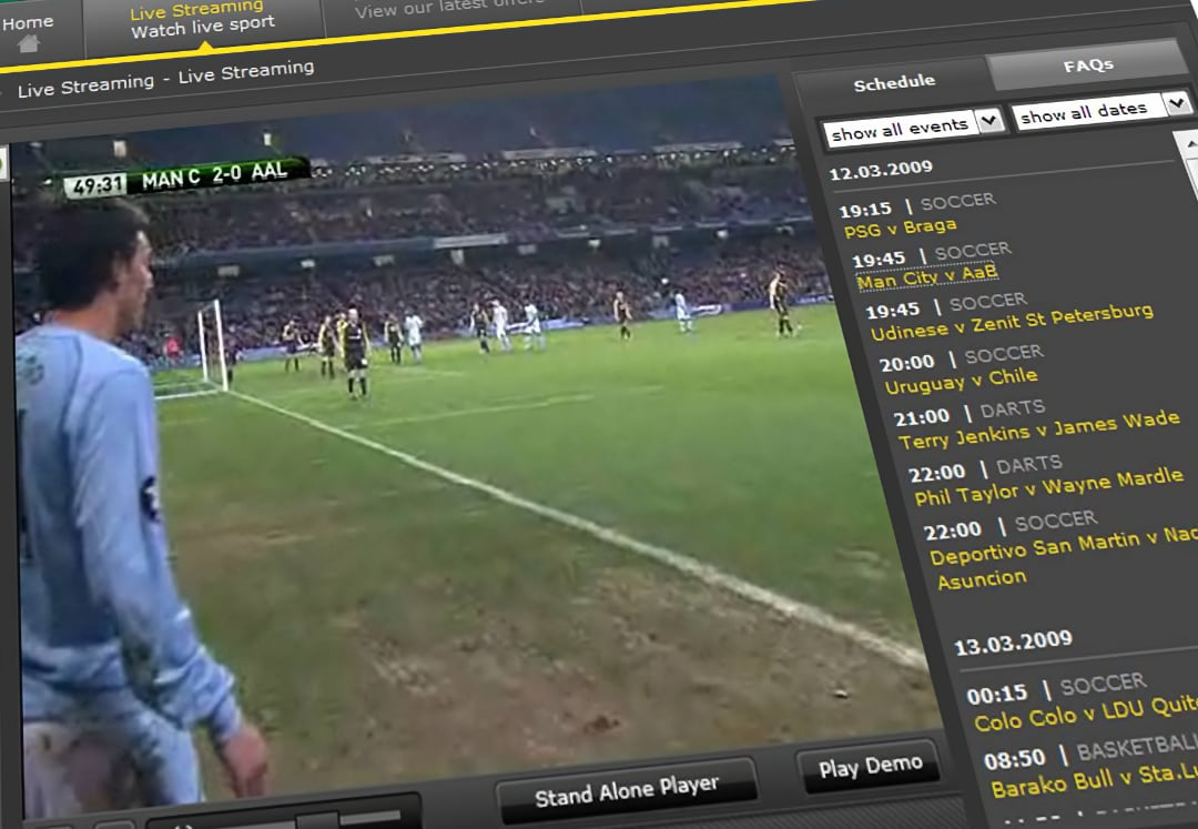 Watch live football on Bet365 for free
